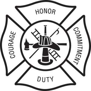 Fire Department Maltese Cross Coloring Page 23