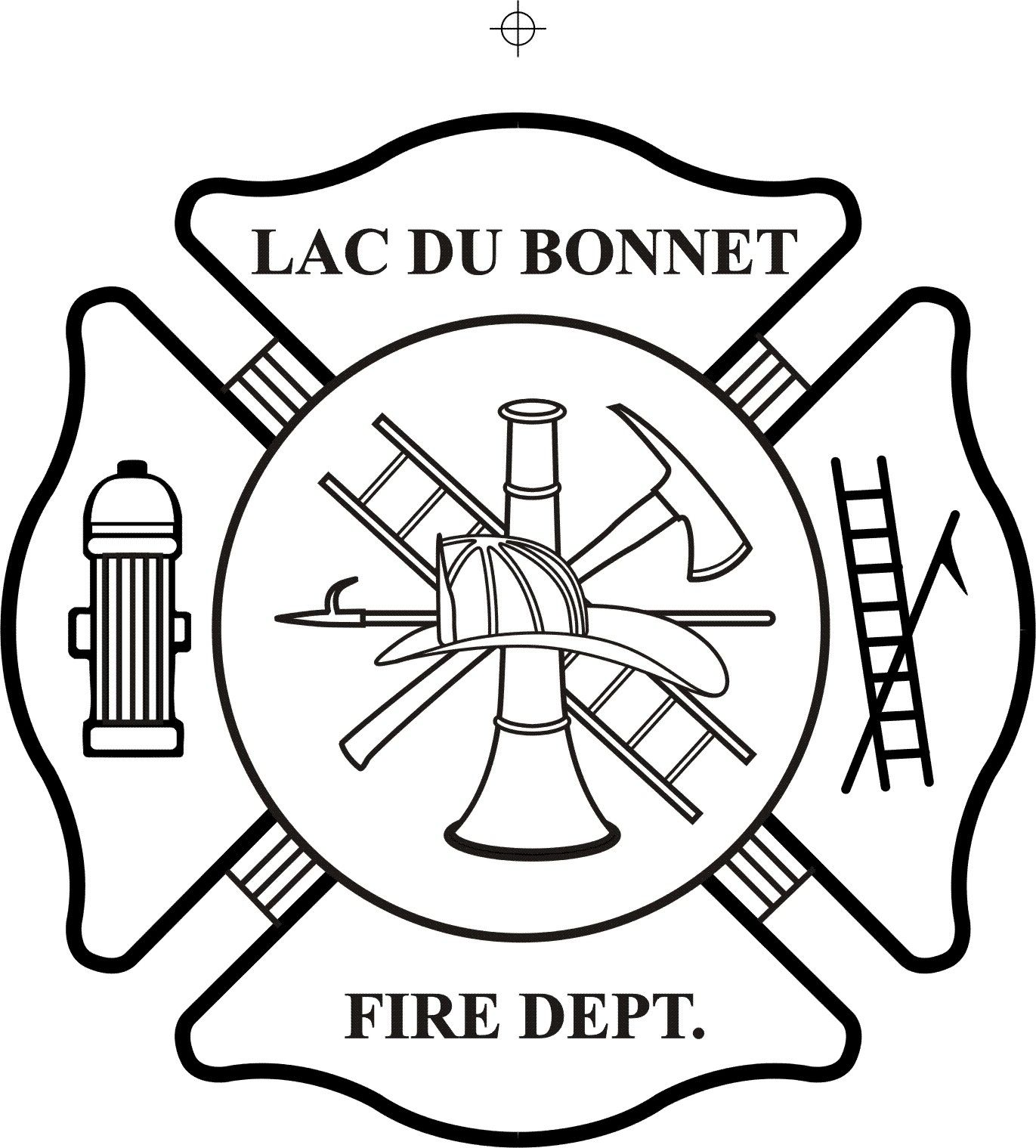 Fire department maltese cross coloring page part 3 for Fire station coloring page
