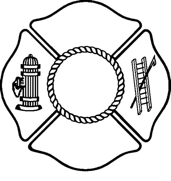 Fire Department Maltese Cross Coloring Page 25