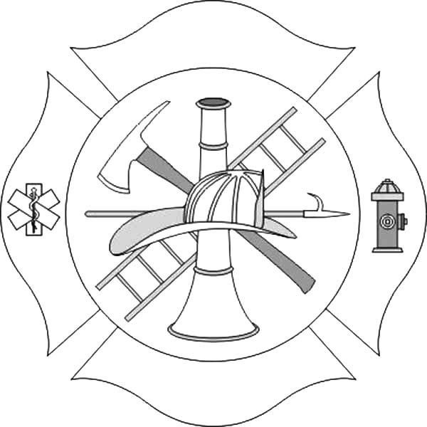 Fire Department Maltese Cross Coloring Page 26