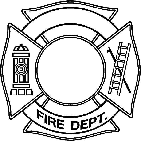 Fire Department Maltese Cross Coloring Page 27