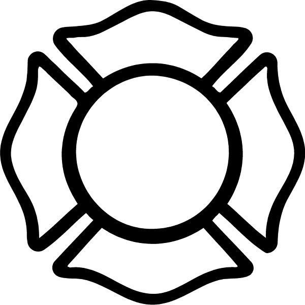 Fire Department Maltese Cross Coloring Page 3