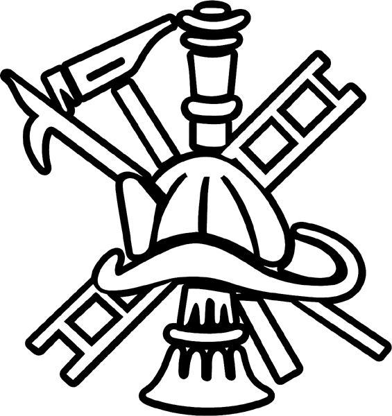 Fire Department Maltese Cross Coloring Page 30