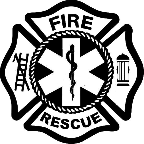 Fire Department Maltese Cross Coloring Page 34