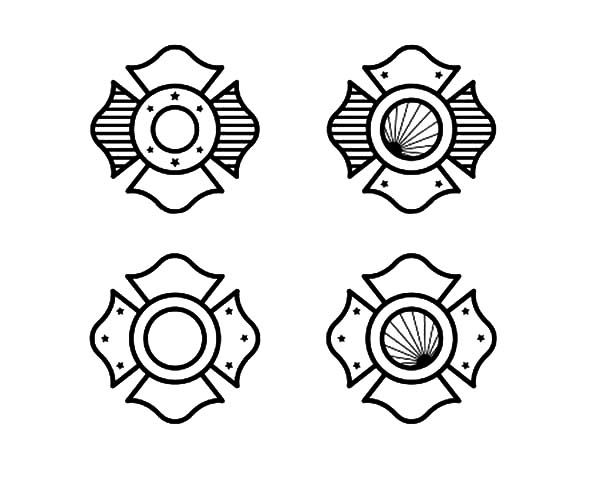Fire Department Maltese Cross Coloring Page 35