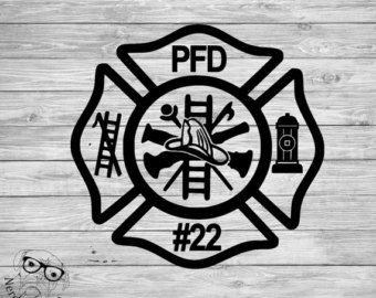 Fire Department Maltese Cross Coloring Page 37