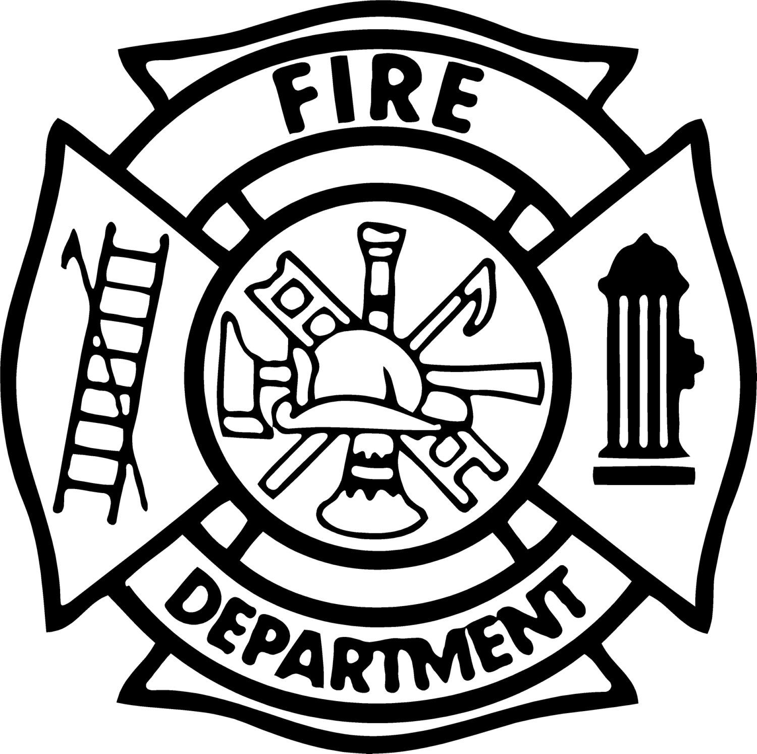 Fire Department Maltese Cross Coloring Page Part 4