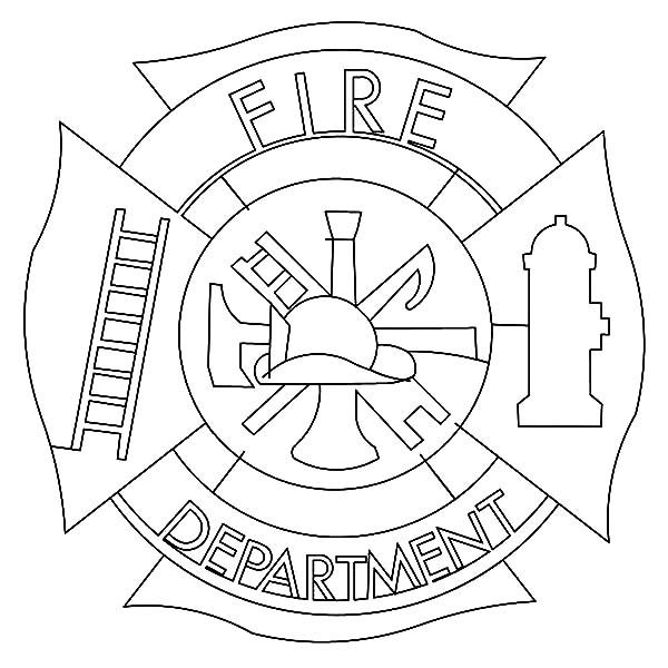 Fire Department Maltese Cross Coloring Page 41