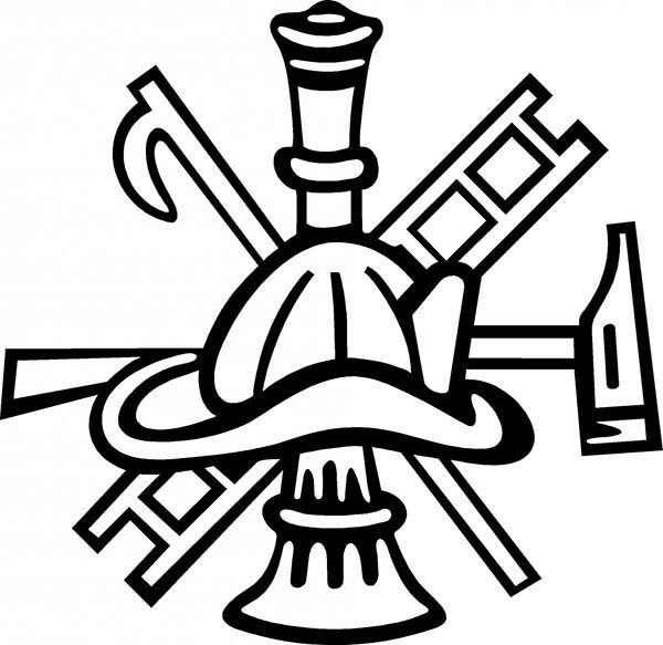 Fire Department Maltese Cross Coloring Page 43