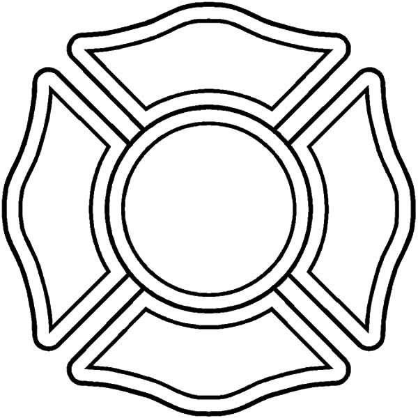 Fire Department Maltese Cross Coloring Page 45