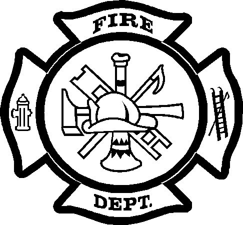 Fire Department Maltese Cross Coloring Page 47