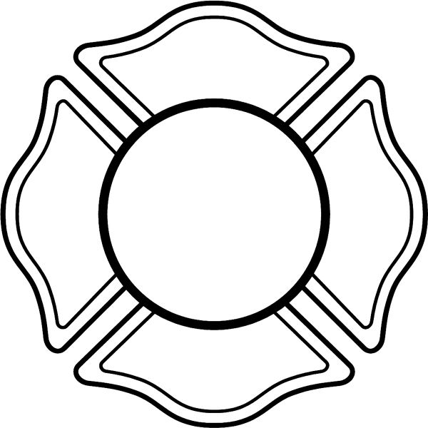 Fire Department Maltese Cross Coloring Page 5