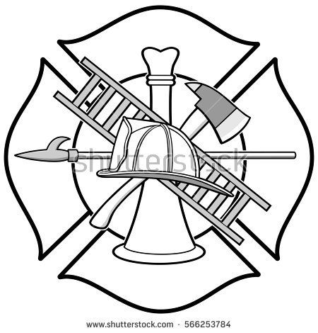Fire Department Maltese Cross Coloring Page 50