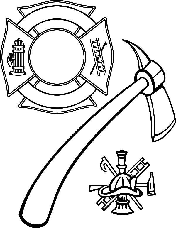 Fire Department Maltese Cross Coloring Page 6