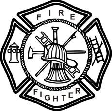 Fire Department Maltese Cross Coloring Page 7