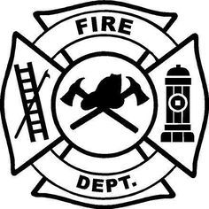 Fire Department Maltese Cross Coloring Page 9