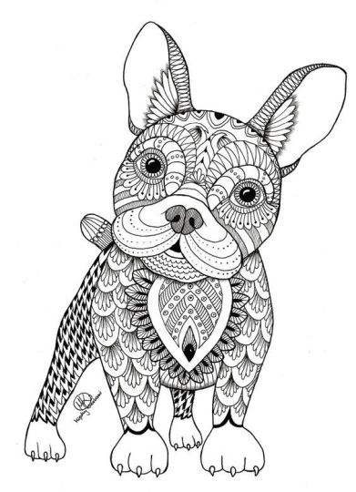 French Bulldog Coloring Pages 11
