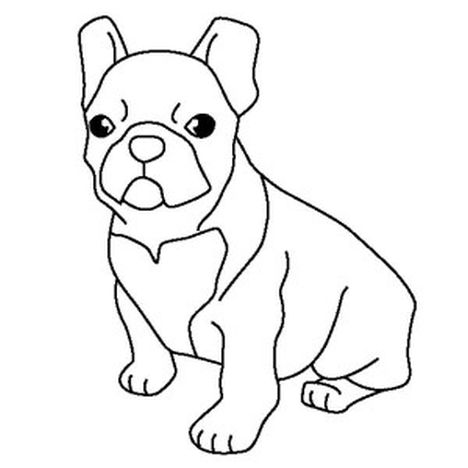 French Bulldog Coloring Pages 15