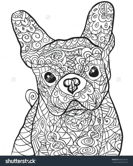 French Bulldog Coloring Pages 17