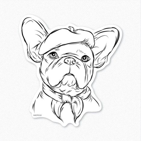 French Bulldog Coloring Pages 22
