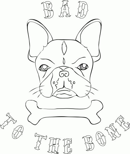 French Bulldog Coloring Pages 23