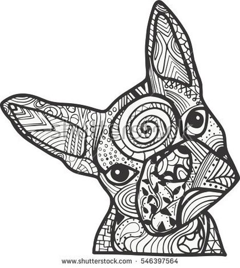 French Bulldog Coloring Pages 27