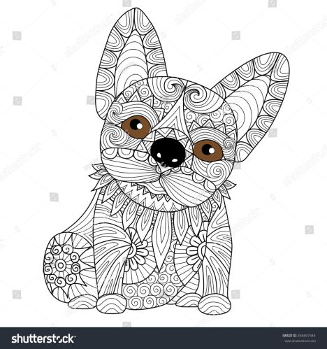 French Bulldog Coloring Pages 29