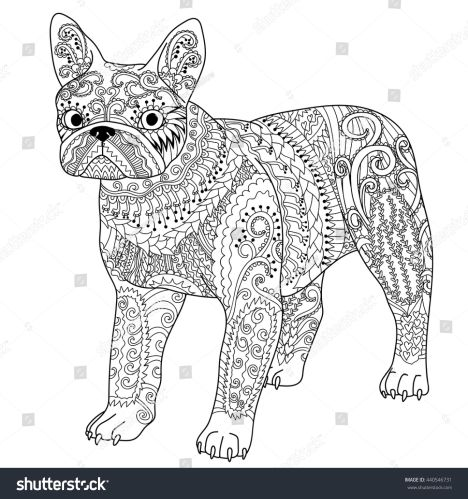French Bulldog Coloring Pages 30