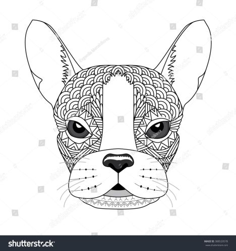 French Bulldog Coloring Pages 31