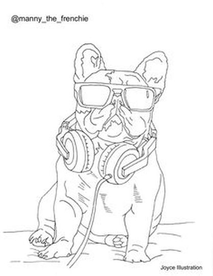 French Bulldog Coloring Pages - Part 4