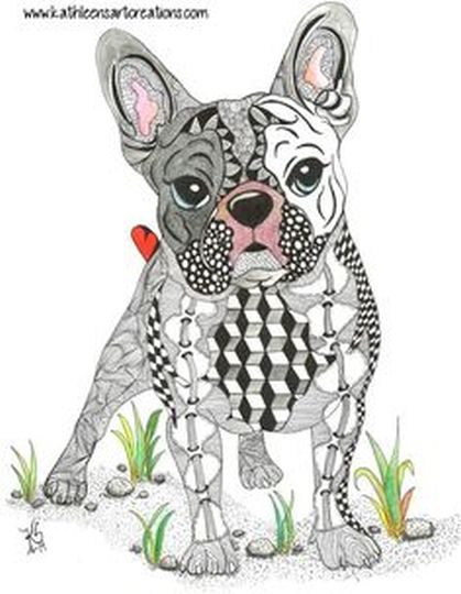 French Bulldog Coloring Pages 40