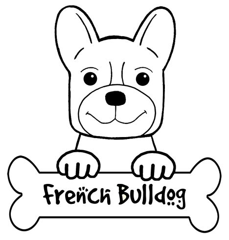 French Bulldog Coloring Pages 48