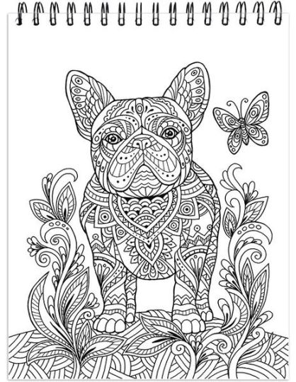 French Bulldog Coloring Pages 7