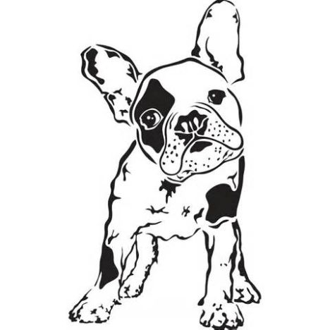 French Bulldog Coloring Pages 9