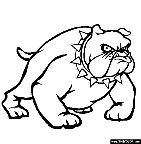 Georgia English Bulldog Coloring Pages 26