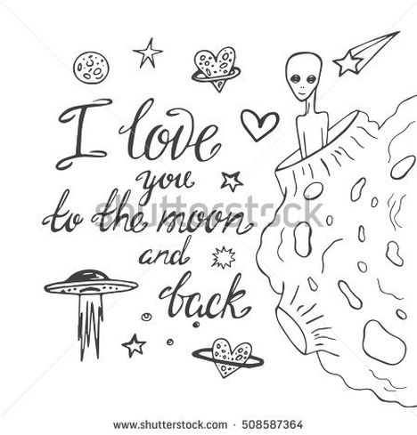 I Love You To The Moon And Back Coloring Pages 1