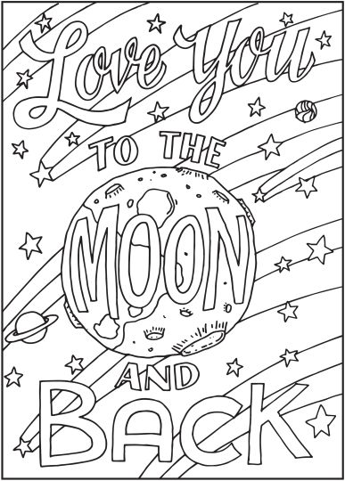 I Love You To The Moon And Back Coloring Pages 10