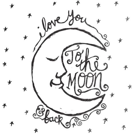 I Love You To The Moon And Back Coloring Pages 12