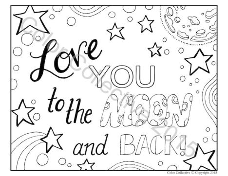 I Love You To The Moon And Back Coloring Pages 14
