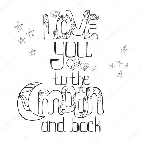 I Love You To The Moon And Back Coloring Pages 16