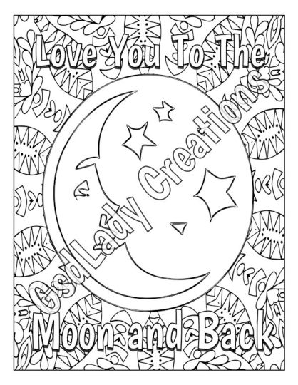 I Love You To The Moon And Back Coloring Pages 17