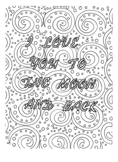 I Love You To The Moon And Back Coloring Pages 19