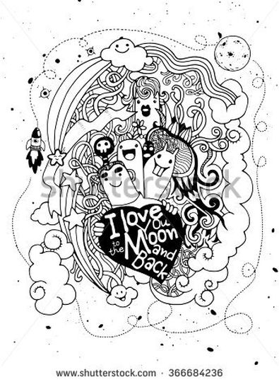 I Love You To The Moon And Back Coloring Pages 2