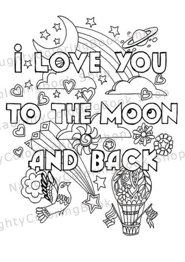I Love You To The Moon And Back Coloring Pages - Part 2
