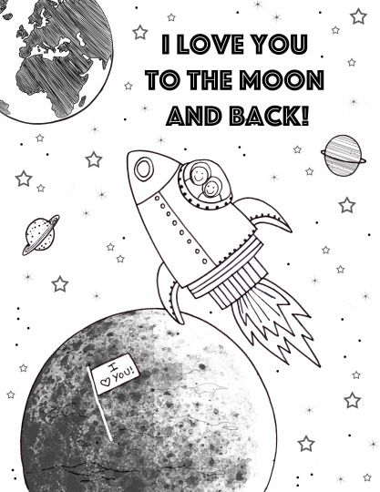 I Love You To The Moon And Back Coloring Pages 22
