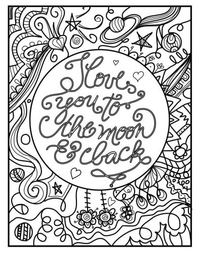 I Love You To The Moon And Back Coloring Pages 23