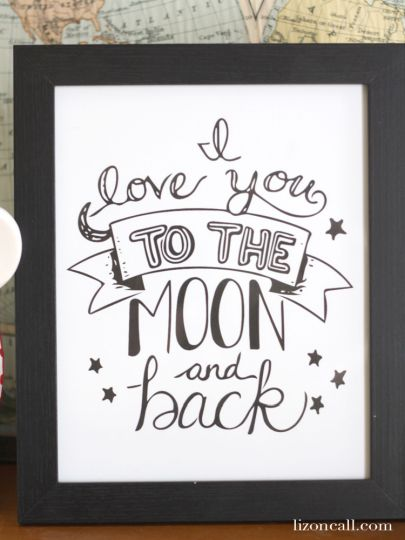 I Love You To The Moon And Back Coloring Pages 4
