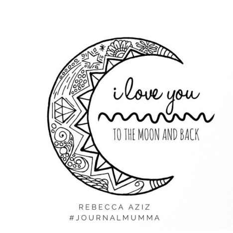 I Love You To The Moon And Back Coloring Pages 6