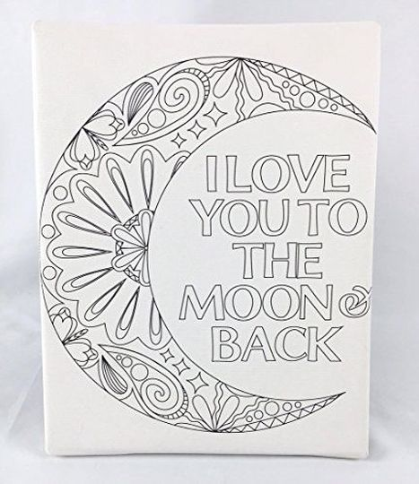 I Love You To The Moon And Back Coloring Pages 9