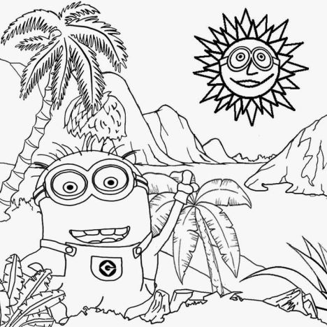Minions Christmas Coloring Pages 10